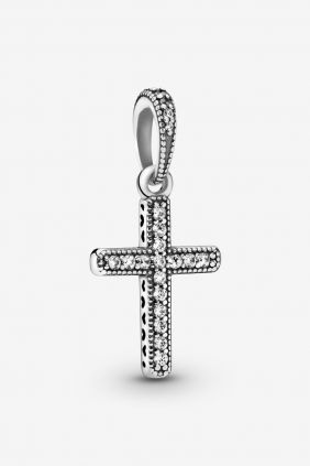 Pandora Charm plata colgante Cruz Circonitas