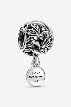 Pandora Charm plata colgante Libelula
