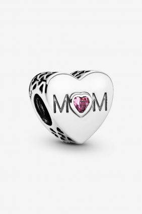 Pandora Charm plata corazon Mom