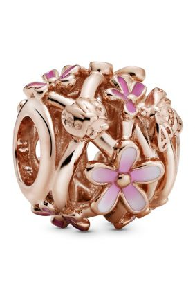 Pandora Charm plata rose filigrana margaritas
