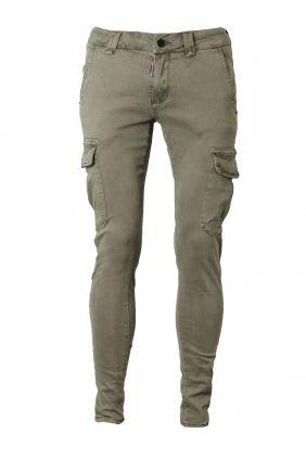 comprar online Pantalón cargo skinny verde Dark & Fish Hombre
