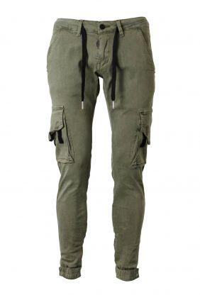 Comprar online Pantalón cargo verde militar Dark & Fish Hombre