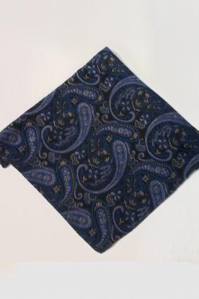 Pañuelo decorativo estampado Azul Marco Valenti