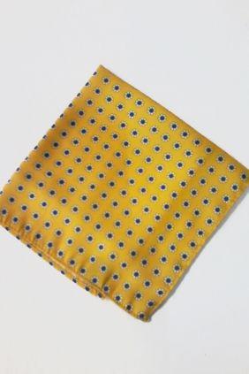 Pañuelo decorativo floral amarilla Marco Valenti