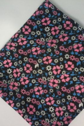 Pañuelo decorativo negro floral Marco Valenti