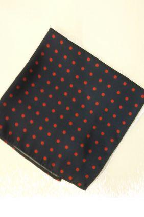 Pañuelo decorativo topos negro Marco Valenti
