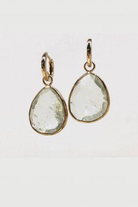 Comprar Pendientes Coolook plata dorada y cuarzo ND003AV/161