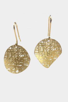 Comprar Pendientes colgar oro hojas NMS-400-2-211-132