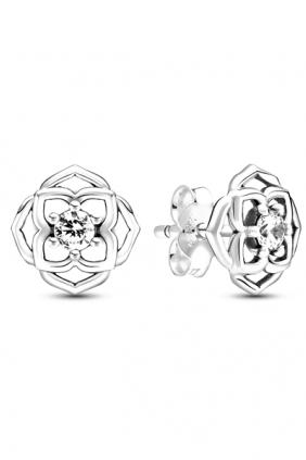Pendientes de Botón Pétalos de Rosa Pandora