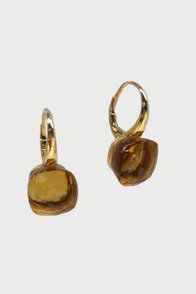 Comprar Pendientes de oro y cuarzo citrino 2994ER/FLLAT/55