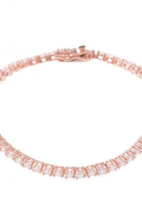 Pulsera Salvatore Rivier Plata Circonitas blancas 16 CM