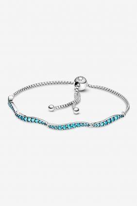 Comprar online Pulsera cierre deslizante azul Pandora mediana grande 599436C01-2