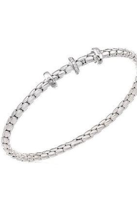Comprar Pulsera oro blanco flexible Chimento 1B00955B1T170
