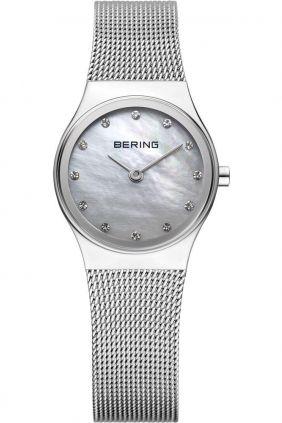 Bering Reloj clásico mujer malla y Swarovski Elements madreperla