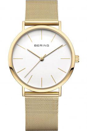 Reloj Bering minimalista mujer dorado