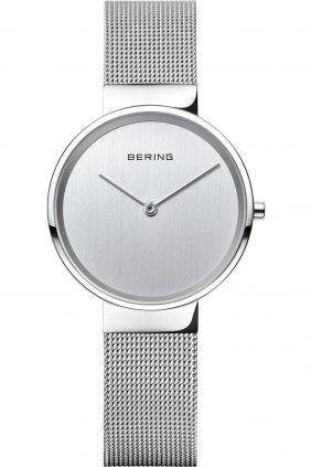 Reloj Bering minimalista plateado de mujer