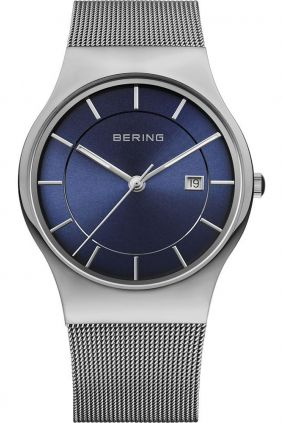 Reloj Bering minimalista unisex esfera azul