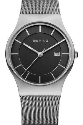 Reloj Bering minimalista unisex esfera negra