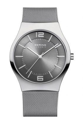 Bering Reloj moderno hombre esfera gris