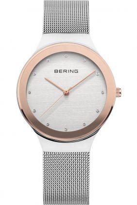 Reloj Bering mujer plateado y rosado clásico