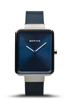 Reloj Bering unisex cuadrado azul
