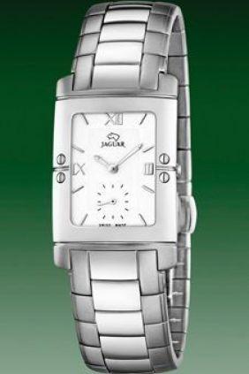Reloj Jaguar Acero Rectangular esfera blanca Unisex