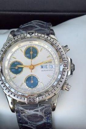 Reloj Jaguar Correa Crono automático esfera blanca