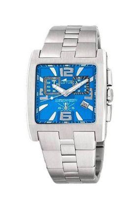 Reloj Lotus Acero Crono Rectangular Esfera Azul