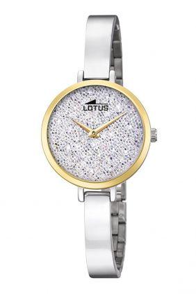 Reloj Lotus señora acero pave de swarovski 18562