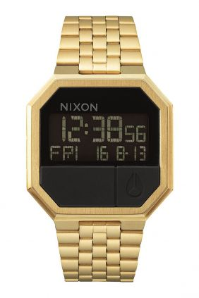 Reloj Nixon Re-Run chapado oro amarillo