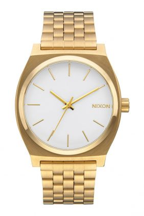 Reloj Nixon Time Teller  Gold / White