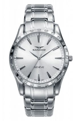Reloj Sandoz Mujer acero y diamantes