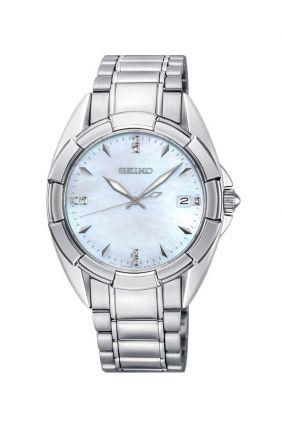 Reloj Seiko SKK885P1 en acero, nácar y diamantes