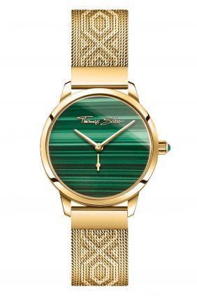 Thomas Sabo Reloj Garden Spirit malaquita chapado oro
