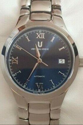Reloj Universal Geneve Classic automatico esfera azul