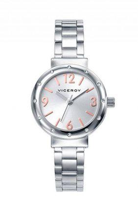 Reloj Viceroy mujer en acero con bisel circonitas 40880
