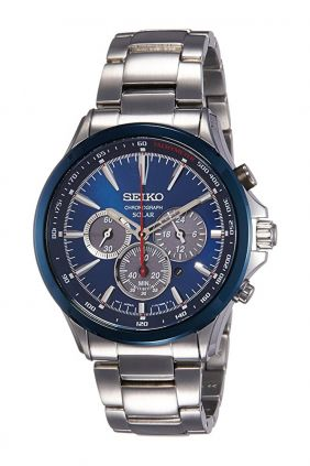 Reloj de hombre Seiko Solar Cronógrafo Esfera azul