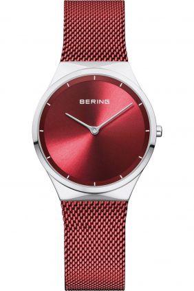 Reloj Bering minimalista rojo de mujer