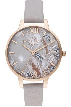 Reloj mujer Olivia Burton esfera gris nacarada