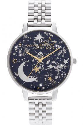 Reloj para Mujer Olivia Burton Navy Sunray, Gold & Silver Bracelet