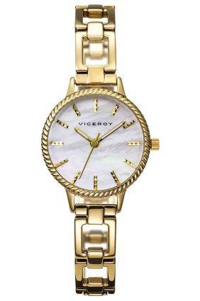 Comprar online Relojes Viceroy señora chapado en oro, esfera nácar 47872