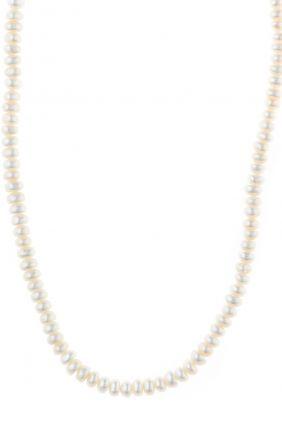 Collar Salvatore plata chapado dorado perlas