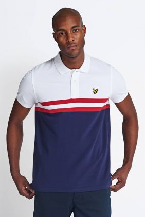 Comprar Polo Lyle & Scott Yoke stripe White/Navy