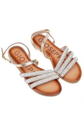 Comprar online Sandalia semi-plana piel con abalorios Gioseppo
