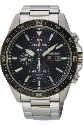 Reloj Seiko PROSPEX solar crono caballero negro