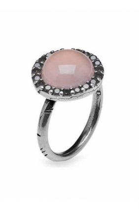 Comprar Anillo PlatadePalo. Plata 1ª de ley con piedra rosa Circoni