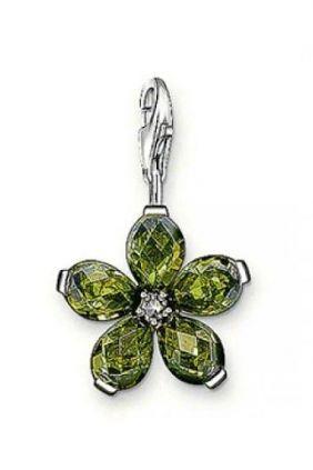 Charm flor verde Thomas Sabo