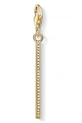 Thomas Sabo colgante charm barra vertical oro