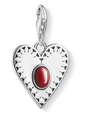 Thomas Sabo colgante charm corazon piedra roja