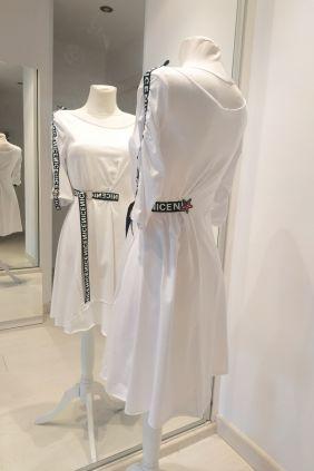 Vestido Blanco semiletras Anna Milittia